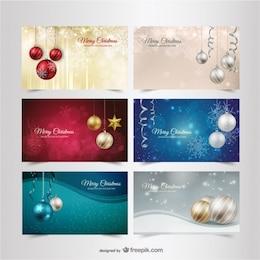 Bannières de Noël emballent