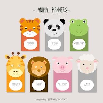 bannières des animaux