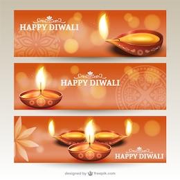 Bannières Diwali emballer