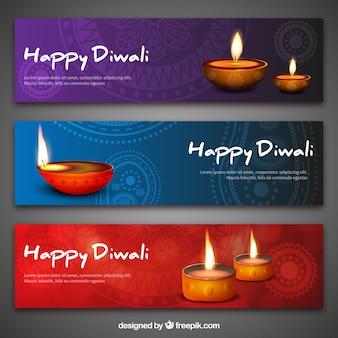 Bannières Diwali