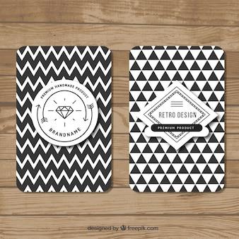 Bannières géométriques dans le style hipster