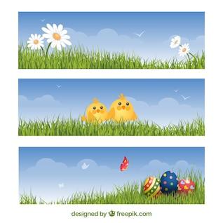 Bannières Pâques fixés