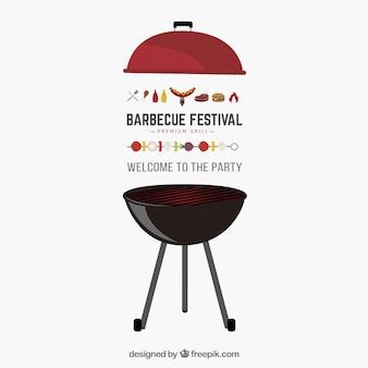 Invitation de vecteur de partie de barbecue