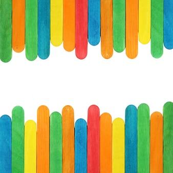 Bâton de glace en bois coloré Fond