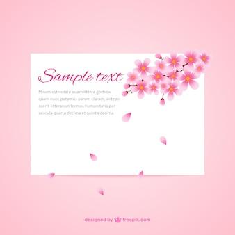 Belle cerise carte de fleur