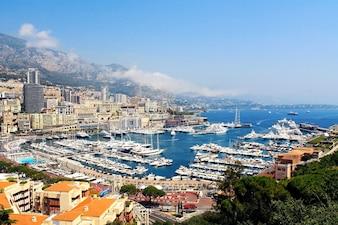 Belle vue sur le centre de Monaco