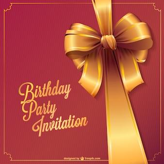 Vecteur d'invitation de fête d'anniversaire