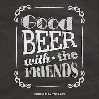 Menus de la bière tableau noir
