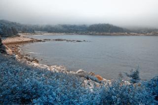 Bleu brumeux cape
