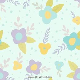 Bleu motif floral
