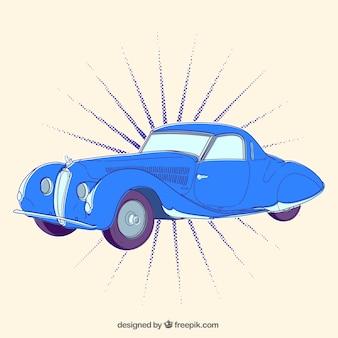 Bleu voiture rétro