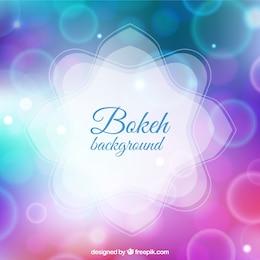 Bokeh fond dans les tons violet et bleu