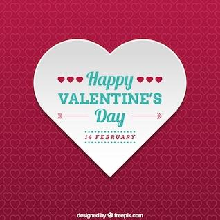 Bonne carte de coeur de Saint-Valentin