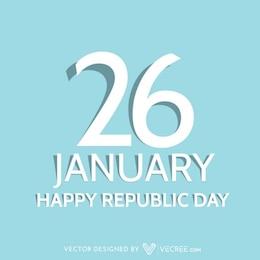 Bonne carte Jour de la République