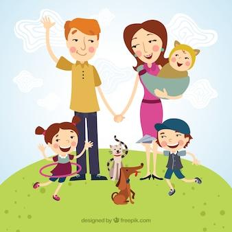 Bonne illustration de la famille