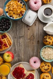 Border de la nourriture du petit déjeuner