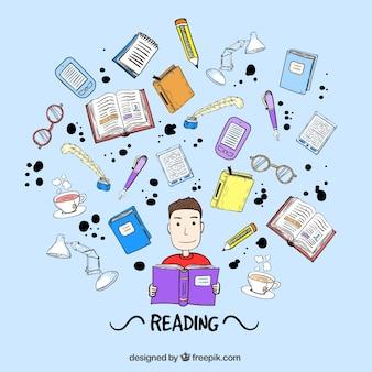 Boy lecture d'un livre