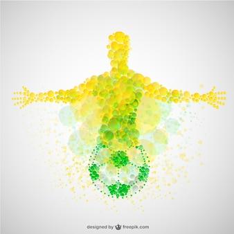Coupe du Brésil joueur de football vecteur