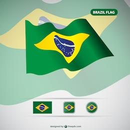 Brésil drapeau vecteur libre
