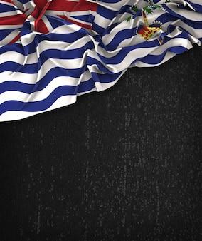 British Indian Ocean Territory Flag Vintage sur un tableau noir grunge avec un espace pour le texte