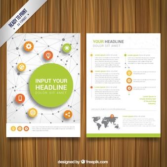 brochure de réseau