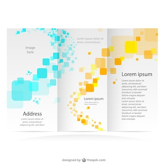Brochure graphiques de marque maquette libre