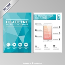 Brochure polygonale