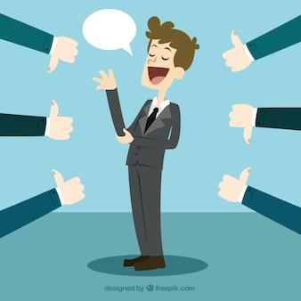rétroaction de Business concept