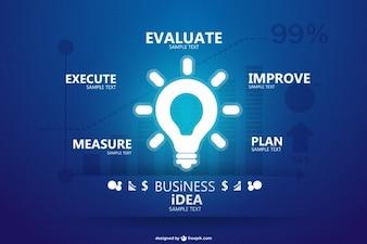 Infographique d'affaires la conception créative