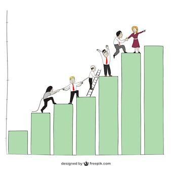 Les gens d'affaires et graphique