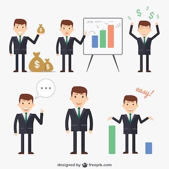 Caricatures des hommes d'affaires