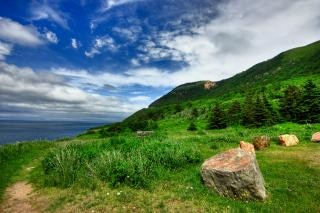 Cabot Trail hdr nuageux