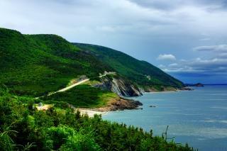 Cabot Trail paysage hdr bleu