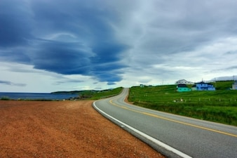 Cabot trail route panoramique hdr