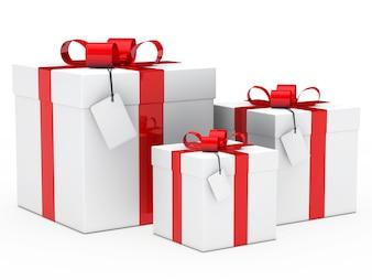 Cadeaux avec différentes tailles