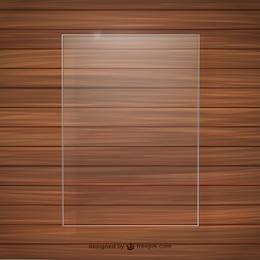 Cadre de cristal texture du bois