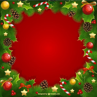 Cadre de Noël avec le gui