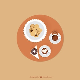 Café et biscuits