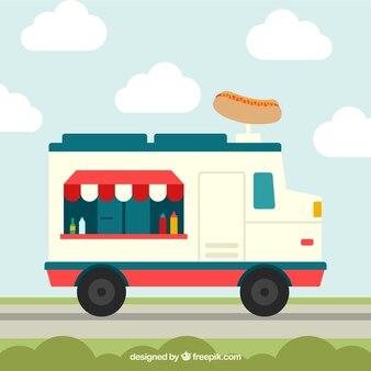 Camion à hot-dog