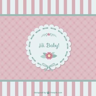 Carte de bébé mignon