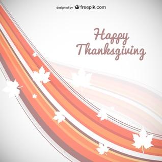 Carte de thanksgiving avec des feuilles silhouettes