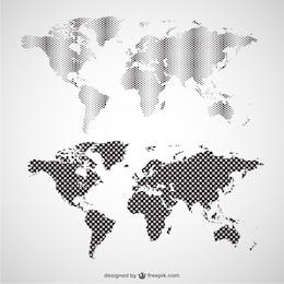 Carte du monde graphiques vectoriels