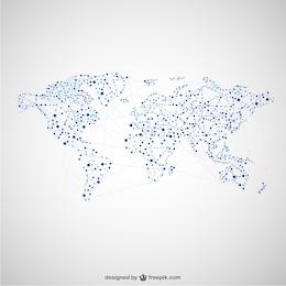 Carte du monde la conception du réseau mondial
