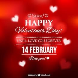 Carte élégante de Saint-Valentin