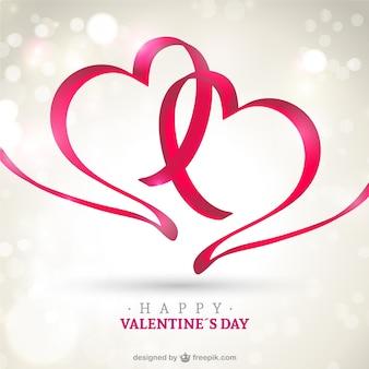 Carte joyeuse Saint-Valentin