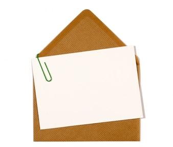 Carte-lettres avec enveloppe marron