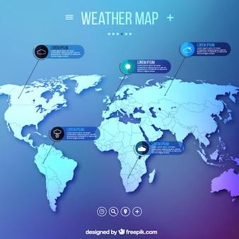 Carte météo infographie