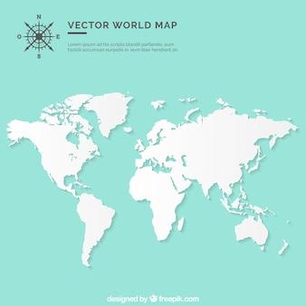 Carte muette du monde