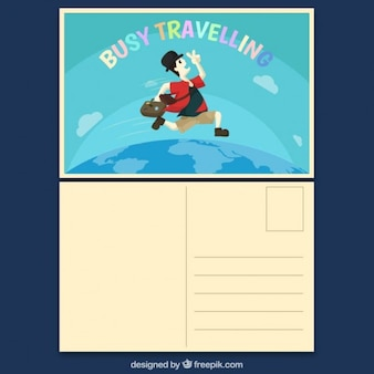 Carte postale voyager Occupé