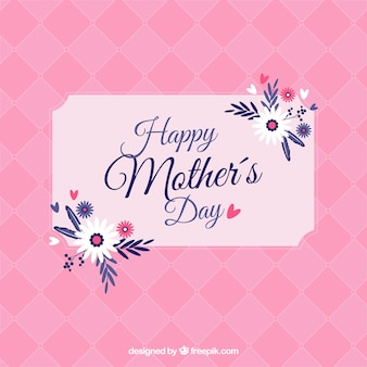 Carte rose pour les mères jour